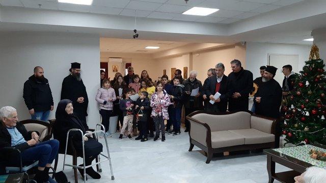 Εόρτια επίσκεψη της βυζαντινής χορωδίας του Ι.Μ.Ν. Μεγάλης Παναγίας και του κατηχητικού σχολείου της Ενορίας Έξω Λακωνίων